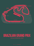 Brazilian Grand Prix 2 Plastic Sign by  NaxArt