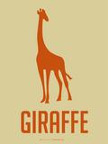 Giraffe Orange Plastic Sign by  NaxArt