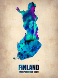 Finland Watercolor Poster Plastic Sign by  NaxArt