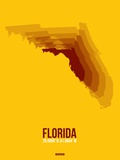 Florida Radiant Map 3 Plastic Sign by  NaxArt