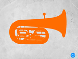 Orange Tuba 2 Plastic Sign by  NaxArt