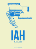 IAH Houston Airport 3 Plastic Sign by  NaxArt