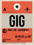 GIG Rio De Janeiro Luggage Tag 2 Plastic Sign by  NaxArt