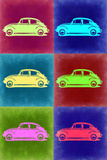 VW Beetle Pop Art 2 Plastic Sign by  NaxArt
