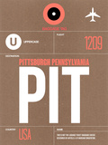PIT Pittsburgh Luggage Tag 2 Plastic Sign by  NaxArt