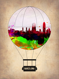 Barcelona Air Balloon 2 Plastic Sign by  NaxArt