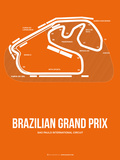Brazilian Grand Prix 3 Plastic Sign by  NaxArt