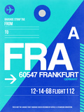 FRA Frankfurt Luggage Tag 1 Plastic Sign by  NaxArt