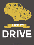 I Like to Drive Beetle 1 Plastic Sign by  NaxArt