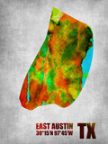 East Austin Texas Plastic Sign by  NaxArt