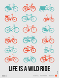Life is a Wild Ride Poster III Plastic Sign by  NaxArt