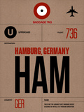 HAM Hamburg Luggage Tag 1 Plastic Sign by  NaxArt