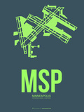 Msp Minneapolis Poster 2 Plastic Sign by  NaxArt