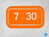 Orange Alarm Clock Plastic Sign by  NaxArt