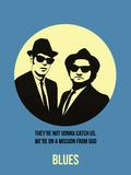 Blues Poster 2 Plastikskilte af Anna Malkin