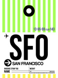 SFO San Francisco Luggage Tag 3 Plastic Sign by  NaxArt