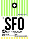 SFO San Francisco Luggage Tag 3 Plastic Sign by  NaxArt