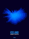 Iceland Radiant Map 3 Plastic Sign by  NaxArt