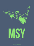 Msy New Orleans Poster 2 Plastic Sign by  NaxArt