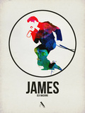 James Watercolor Plastic Sign by David Brodsky