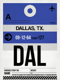 DAL Dallas Luggage Tag 1 Plastic Sign by  NaxArt