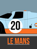 Le Mans Poster 2 Plastic Sign by Anna Malkin