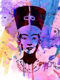 Nefertiti Watercolor Plastic Sign by Anna Malkin