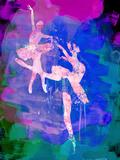Two White Ballerinas Watercolor Kunststof borden van Irina March