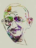 Gandhi Watercolor Plastikskilte af Anna Malkin