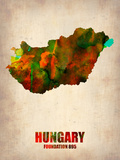 Hungary Watercolor Poster Plastic Sign by  NaxArt