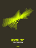 New Orleans Radiant Map 1 Plastic Sign by  NaxArt