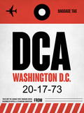 DCA Washington Luggage Tag 1 Plastic Sign by  NaxArt