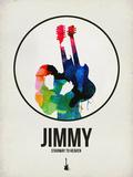 Jimmi Watercolor Plastikschild von David Brodsky