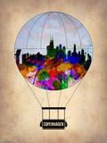 Copenhagen Air Balloon Plastic Sign by  NaxArt