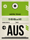 AUS Austin Luggage Tag 1 Plastic Sign by  NaxArt