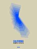 California Radiant Map 5 Plastic Sign by  NaxArt