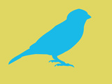 Blue Bird Plastic Sign by  NaxArt