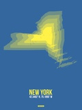 New York Radiant Map 2 Plastic Sign by  NaxArt