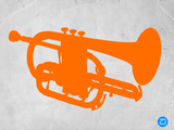 Orange Tuba Plastic Sign by  NaxArt