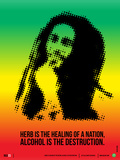 Bob Marley Poster Plastic Sign by  NaxArt