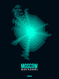 Moscow Radiant Map 3 Plastic Sign by  NaxArt