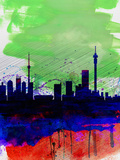 Johannesburg Watercolor Skyline Plastic Sign by  NaxArt