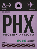 PHX Phoenix Luggage Tag 1 Plastic Sign by  NaxArt