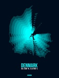 Denmark Radiant Map 2 Plastic Sign by  NaxArt