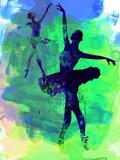Two Dancing Ballerinas Watercolor 3 Cartel de plástico por Irina March