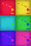Hawaii Pop Art Map 1 Plastic Sign by  NaxArt