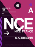 NCE Nice Luggage Tag 1 Plastic Sign by  NaxArt