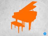 Orange Piano Plastic Sign by  NaxArt