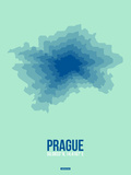 Prague Radiant Map 4 Plastic Sign by  NaxArt