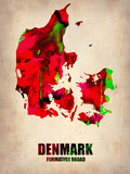 Denmark Watercolor Poster Plastic Sign by  NaxArt
